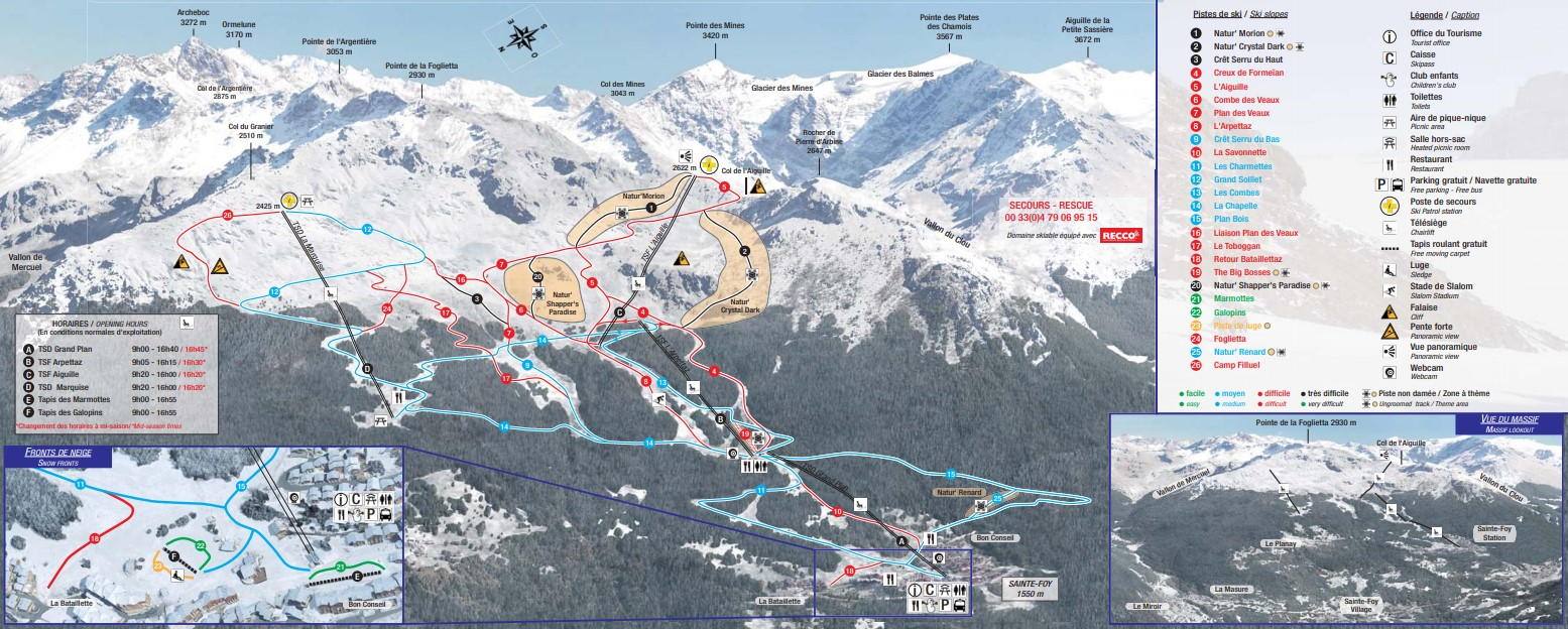 Sainte Foy piste map