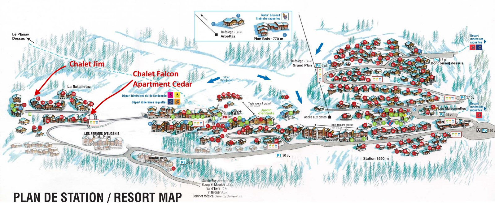 Sainte Foy village map